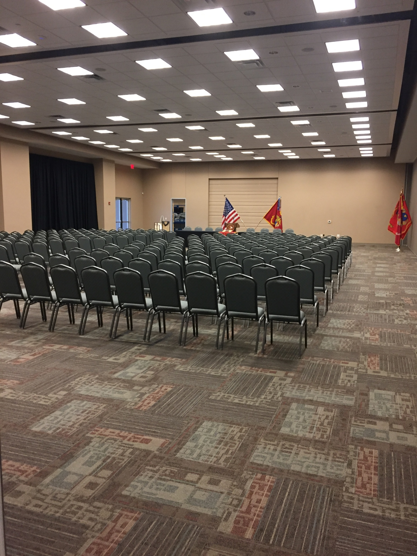 Main Convention Room Front with Detachment Flags